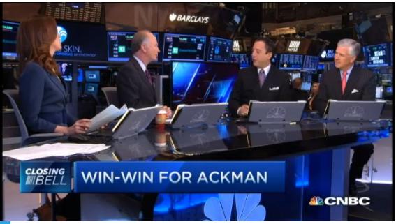 CNBC-Ackman's win-win